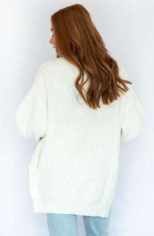 Sew You Say Ivory Knit Cardigan