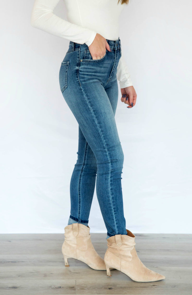 You Ain't Jean Nothin' Super High Rise Skinny Ankle Jeans
