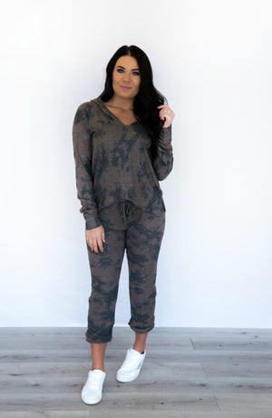 Road Trip Fleece Dye Sweat Pants- 2 colors