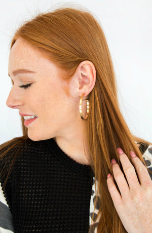 Hoopla Satin Hoop Earrings- 2 colors