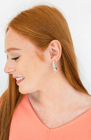 Angelic Rhinestone Hoop Earrings- 2 colors