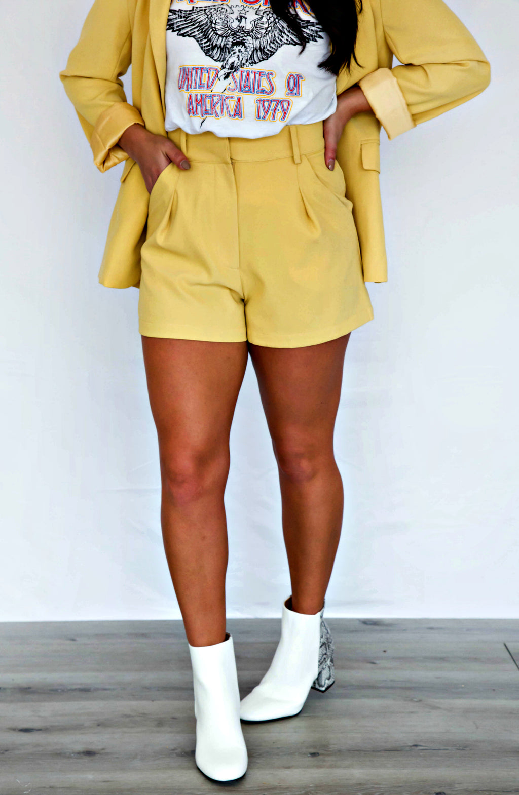 Boss Babe High Waisted Shorts- 2 colors