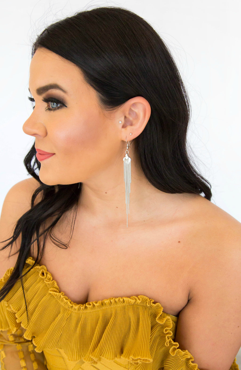 Other Reasons Tassel Statement Earrings - 2 Colors
