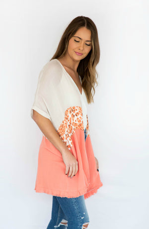 Feels Like Summer Open Front Animal Print Kimono