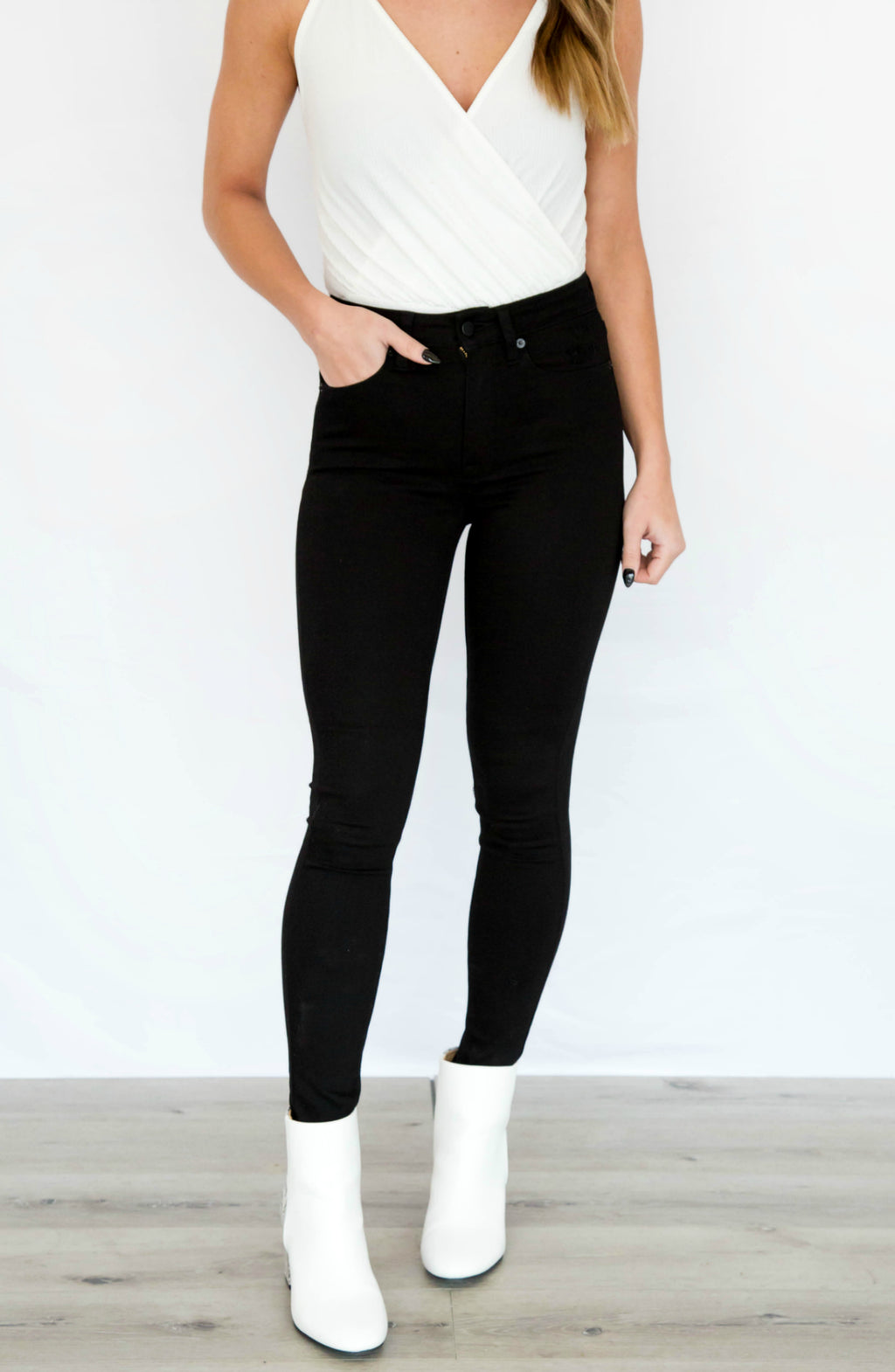 Love That For You Black High Rise Skinny Jeans