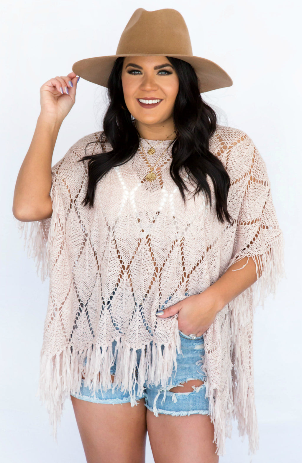 Sun Seeking Crochet Poncho