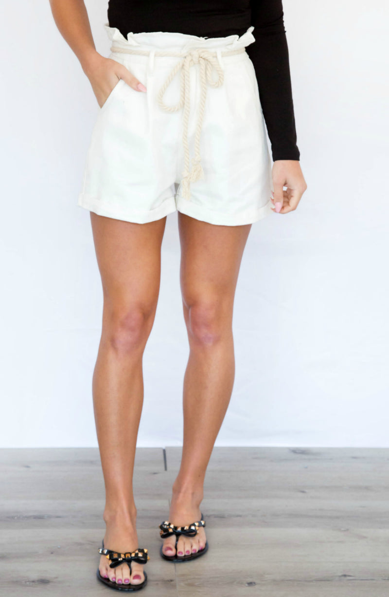Take Me To The Sea Paperbag Shorts- 3 colors