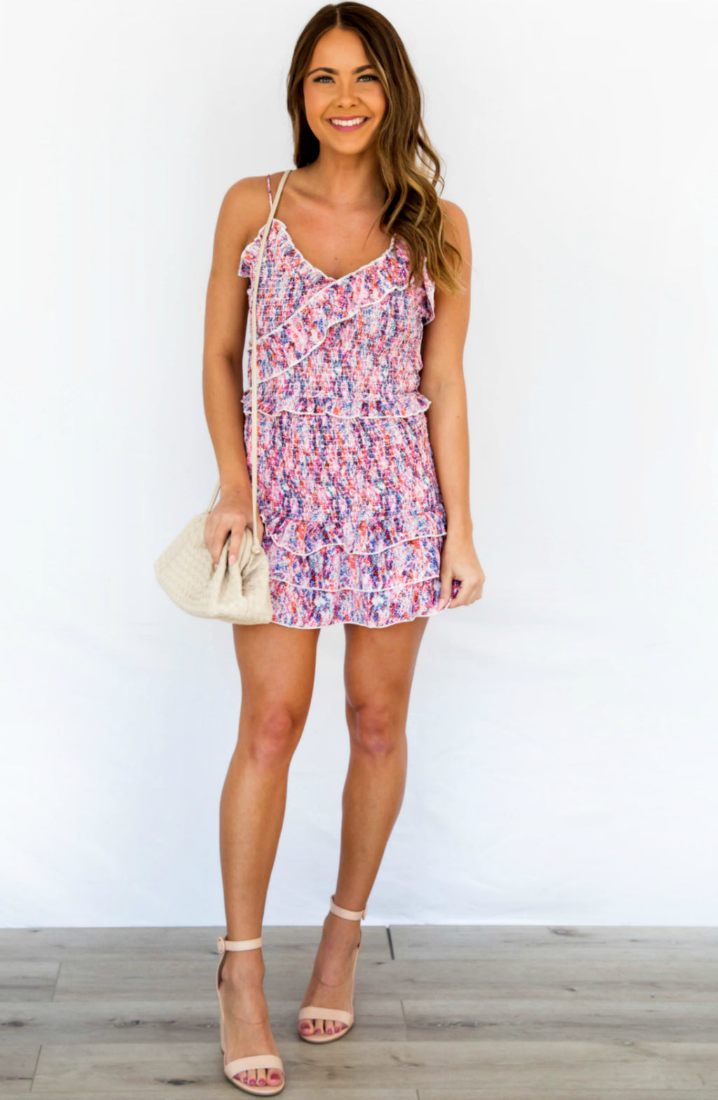 In The Heat Floral Smocked Ruffled Cami