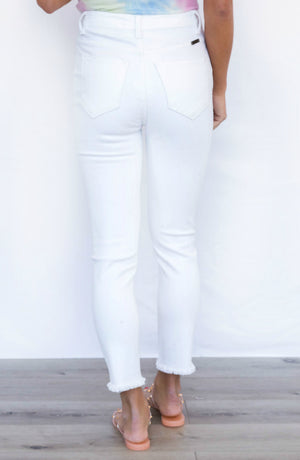 Just All Talk High Rise White Skinny Jeans