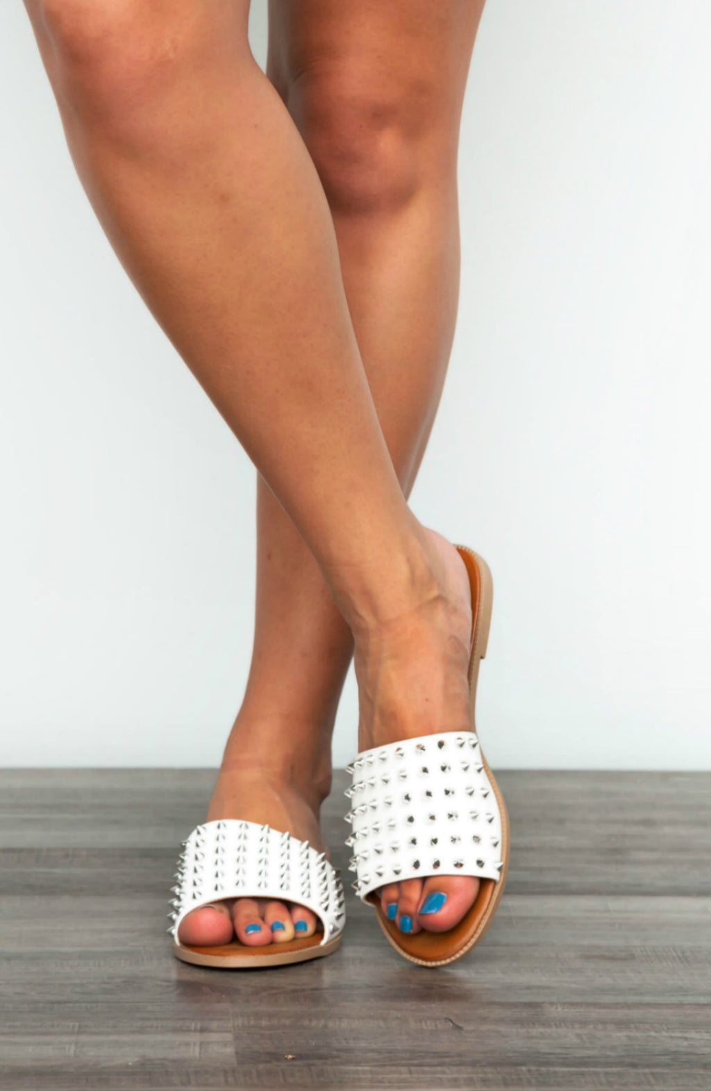 Give It Your All Studded Slip Ons- 3 colors