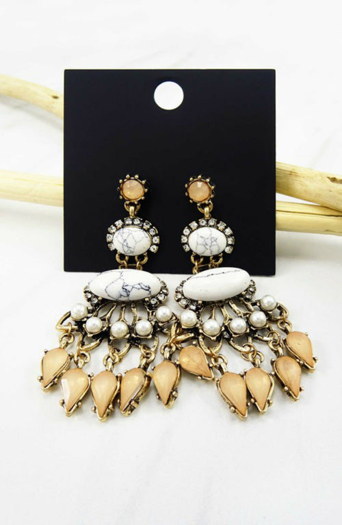 Need You More Natural Stone Statement Earrings