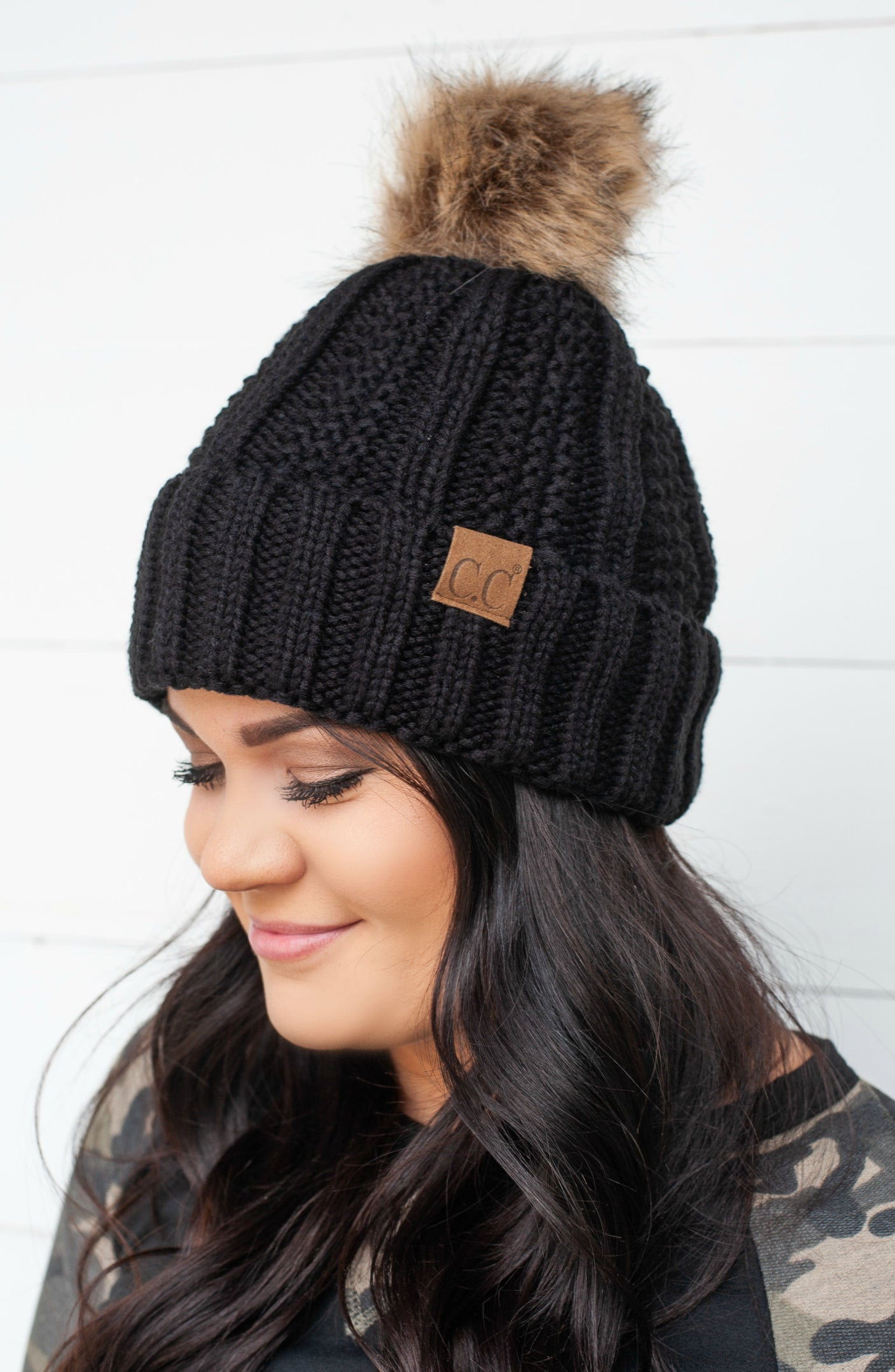 Cc Fuzzy Lining Knitted Beanie - 2 Colors