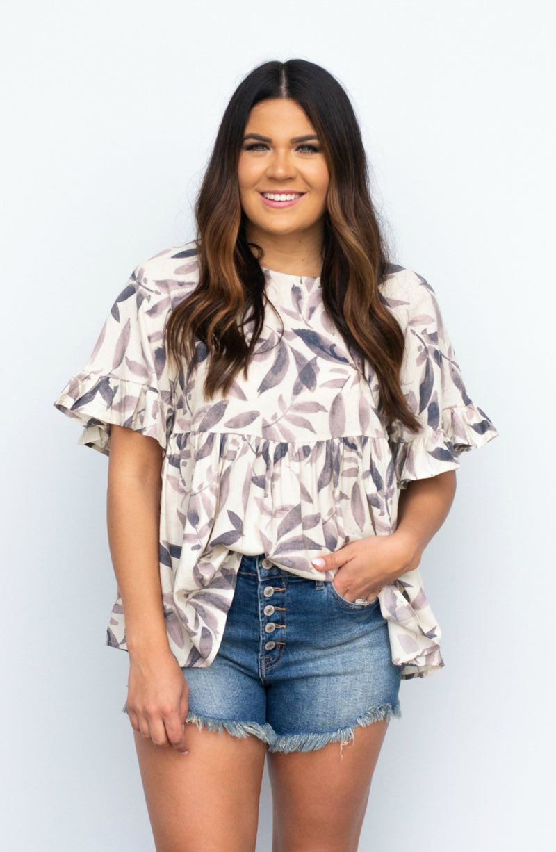 We Know The Scoop Flowered Top
