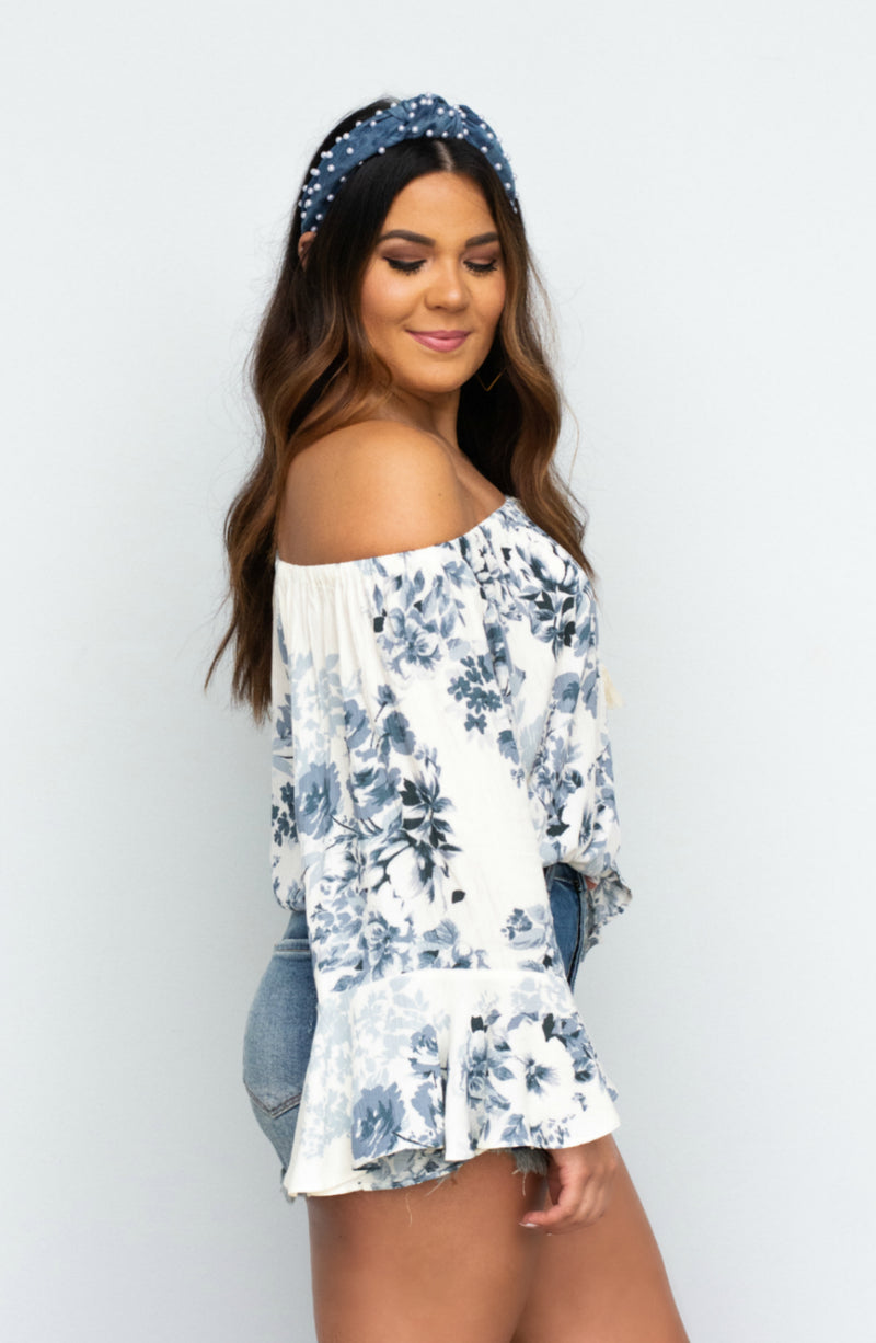 Cool Moves Flutter Printed Top