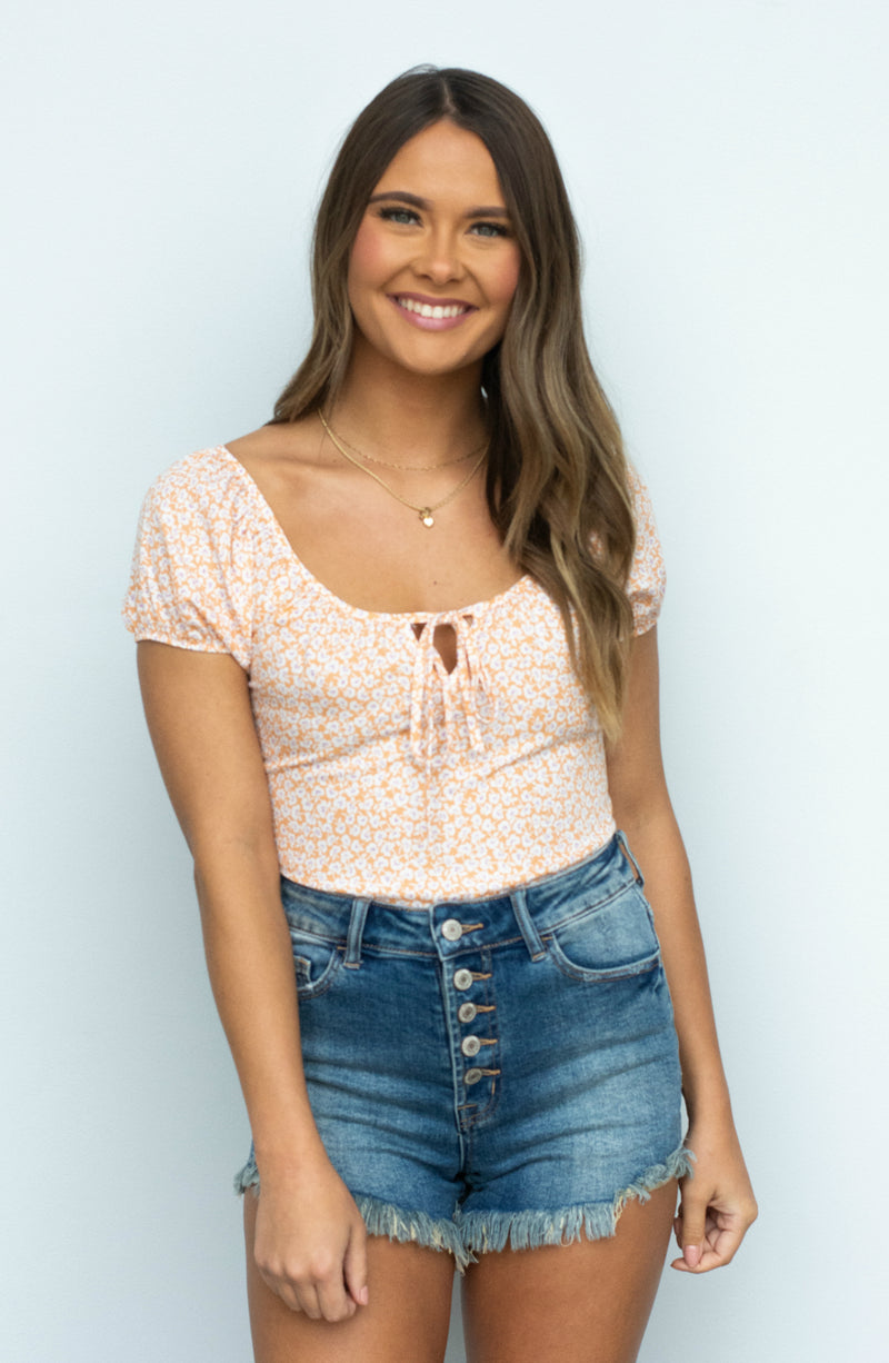 Soul Searching Tie Short Top- 2 colors