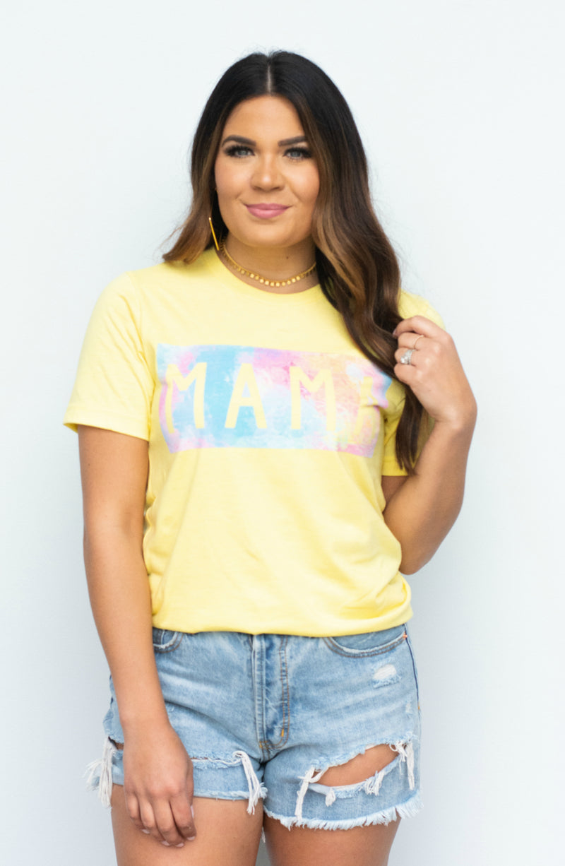 MAMA Watercolor Graphic Tee