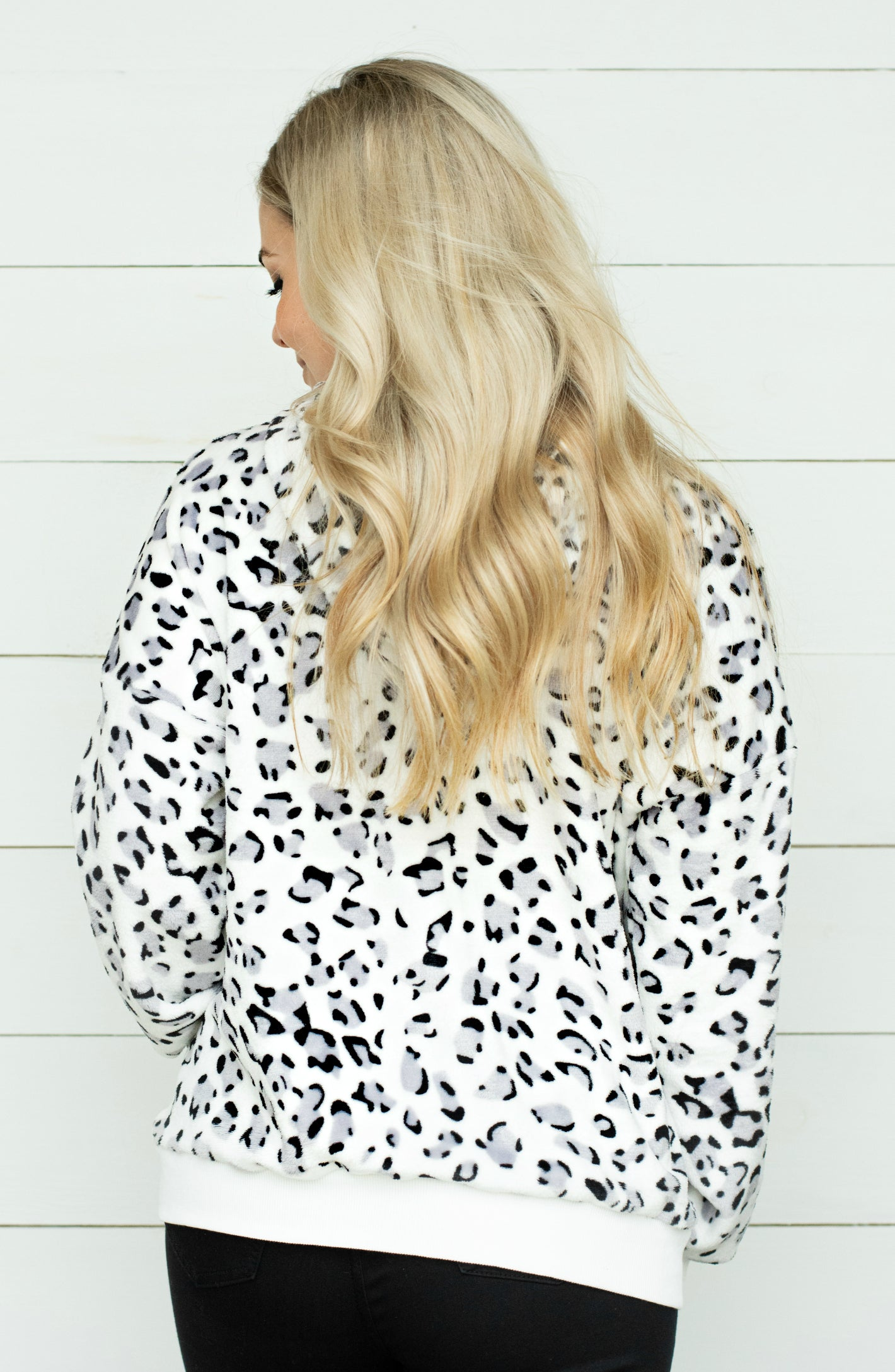 The Wild Life Leopard Print Fleece Hoodie
