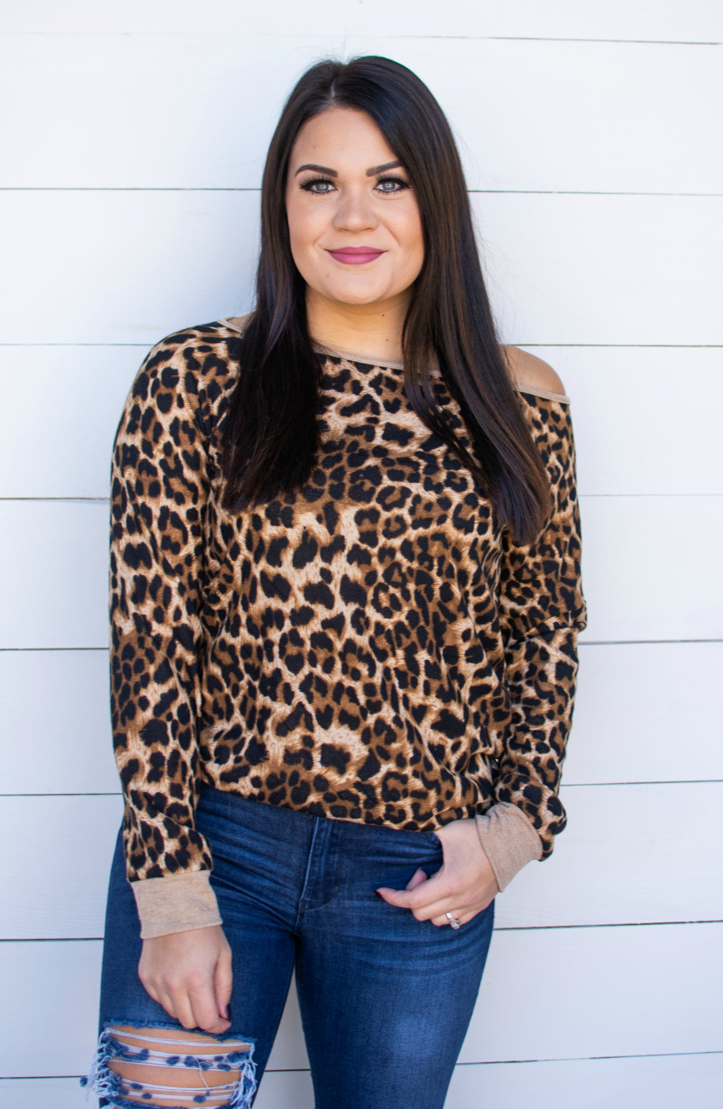 Undeniably You Leopard Pullover