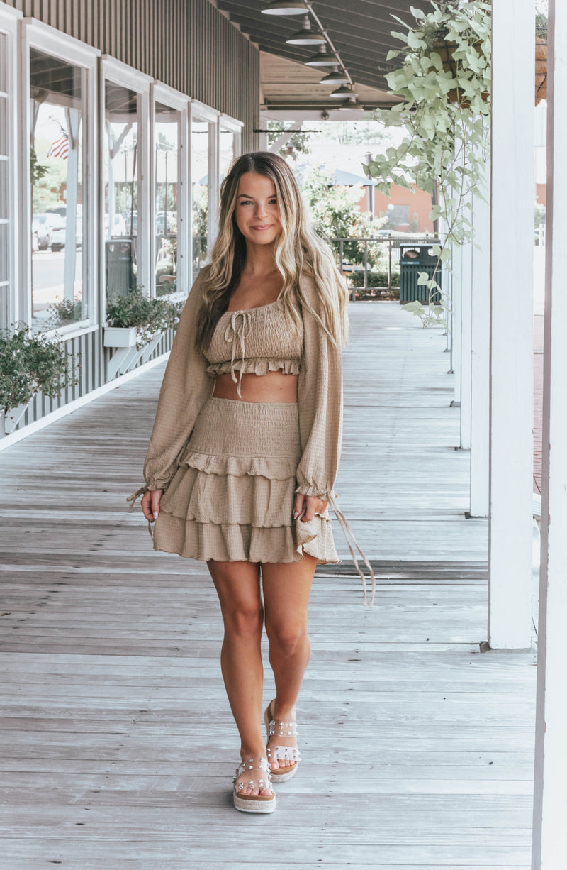 Sweet Natured Snakeskin Front Slit Midi Dress