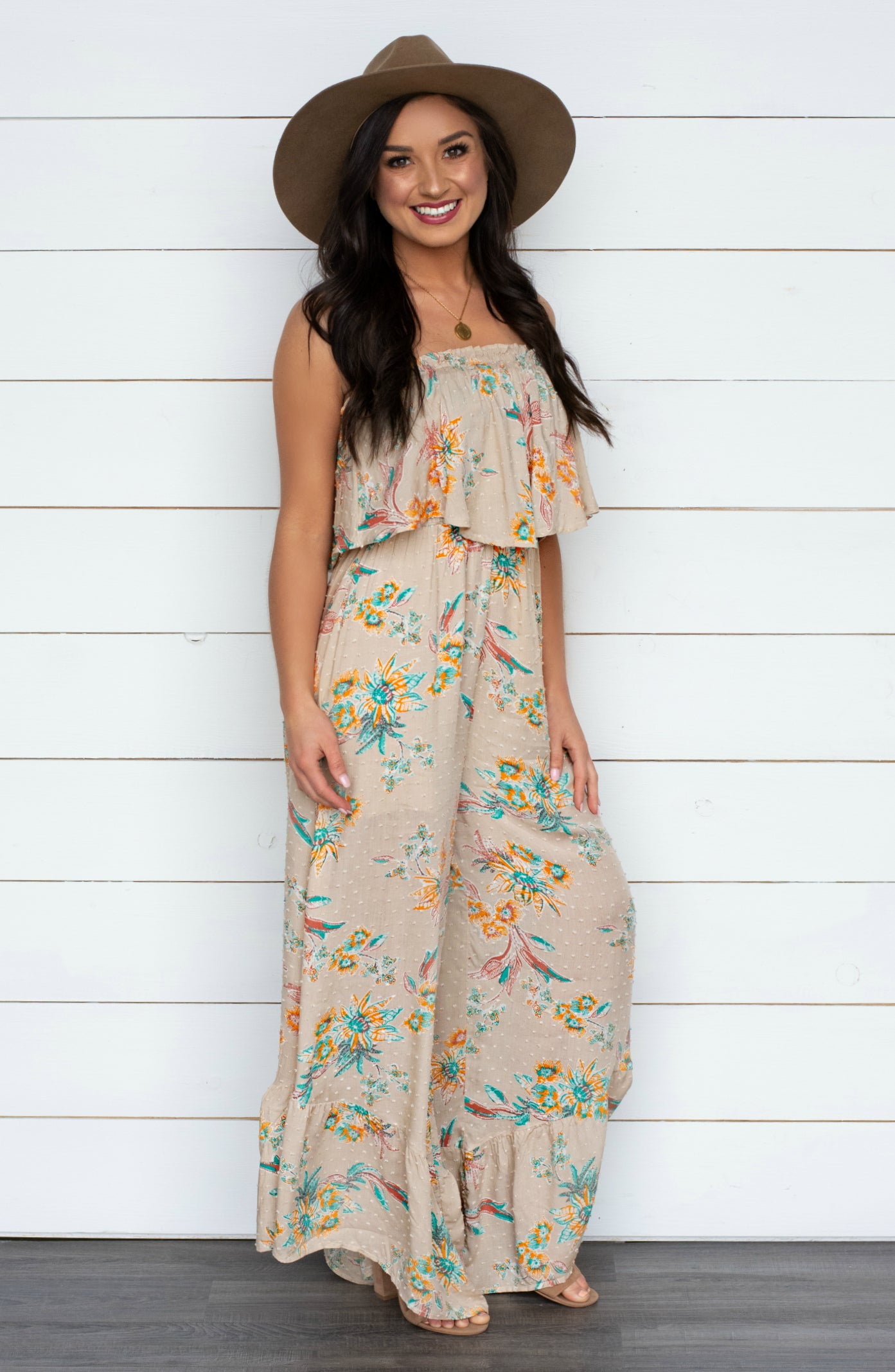 33accd6c5 Spring Fling Detailed Strapless Jumpsuit – Apricot Lane Boutique - Peoria