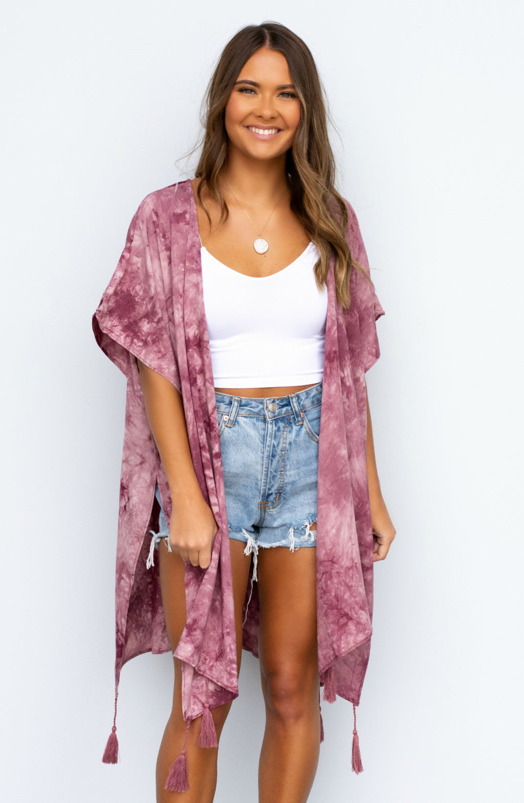 Don't Ask Tie Dye Short Sleeve Kimono - 2 Colors