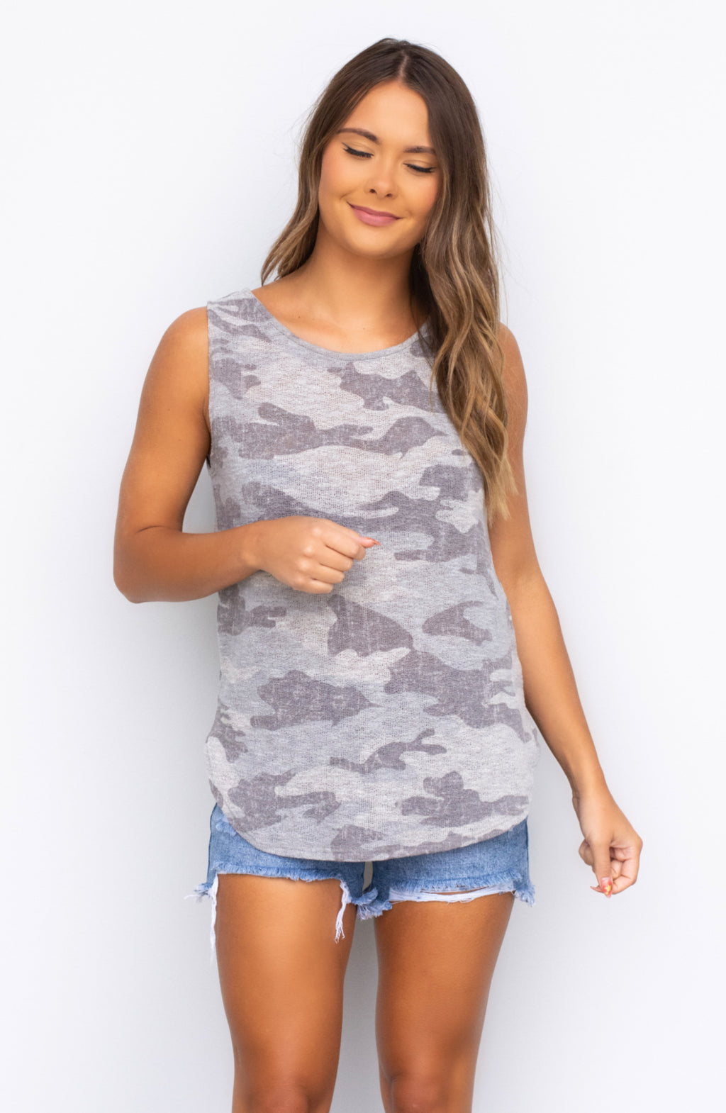 In the Mood Camo Muscle Tank - 2 Colors