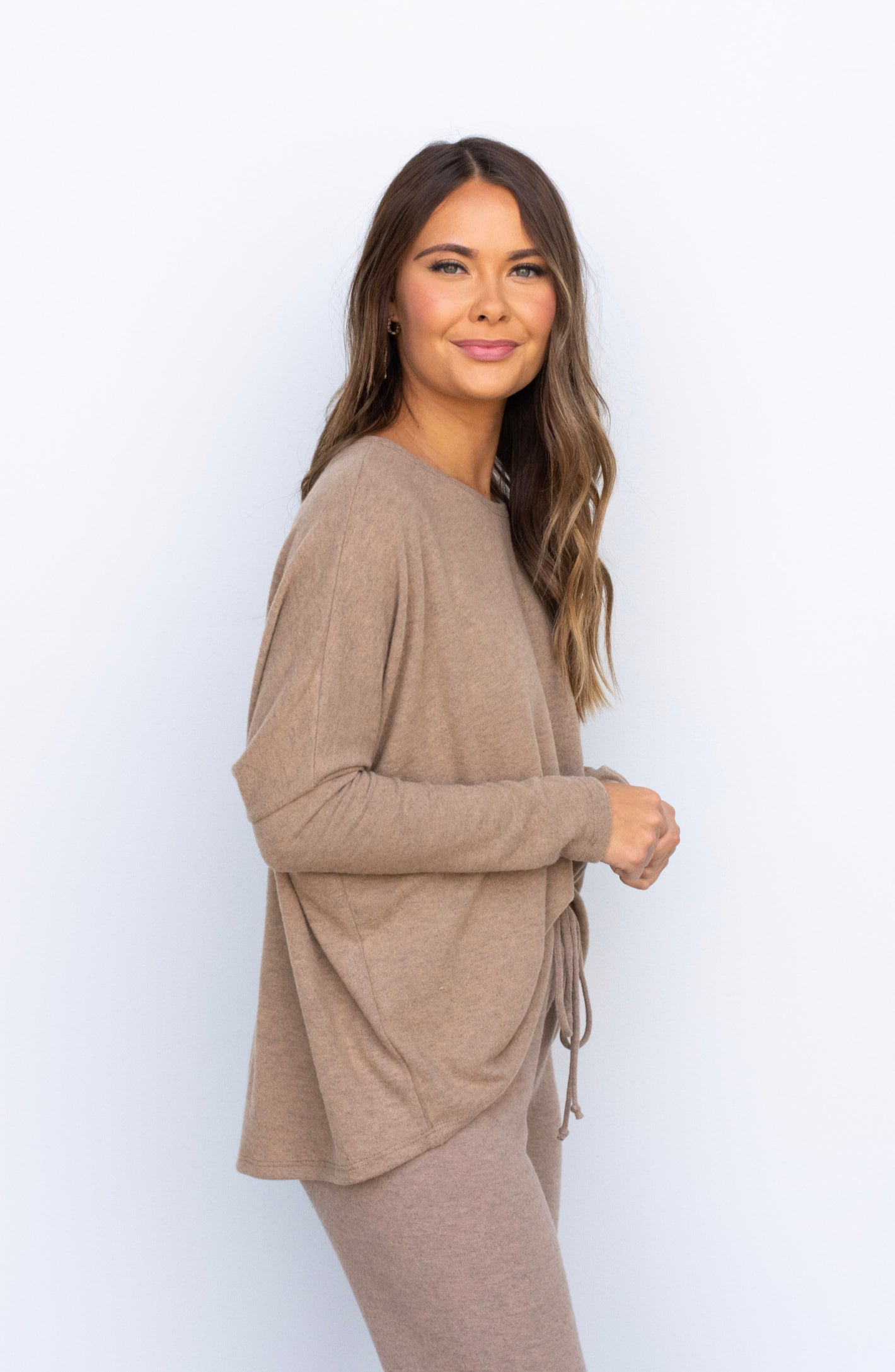Beautiful Things Crinkled Bell Sleeve Top With Frayed Edges-2 Colors