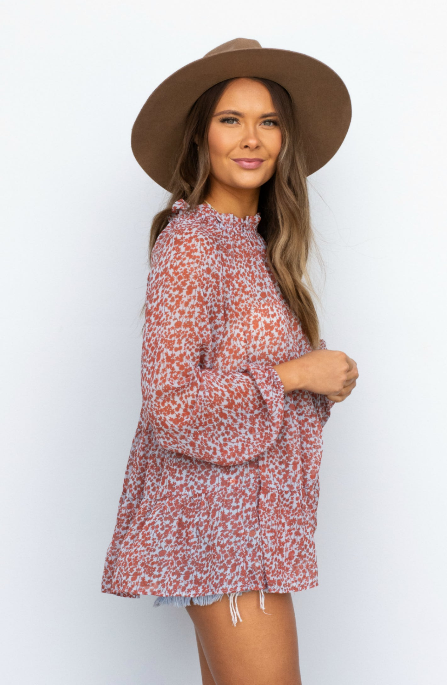 Call My Name Bell Sleeve Floral Applique Dress