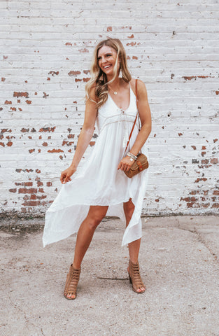 Easy Love Off White Smocked Dress