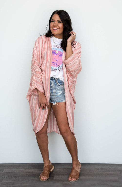 Whispering Winds Printed Duster Kimono- 2 Colors