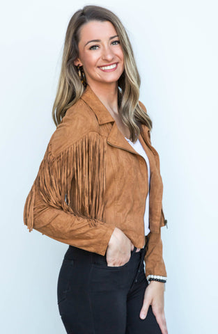 a08bc45c7 PRE-ORDER: I'm The Star Faux Leather Moto Jacket – Apricot Lane ...