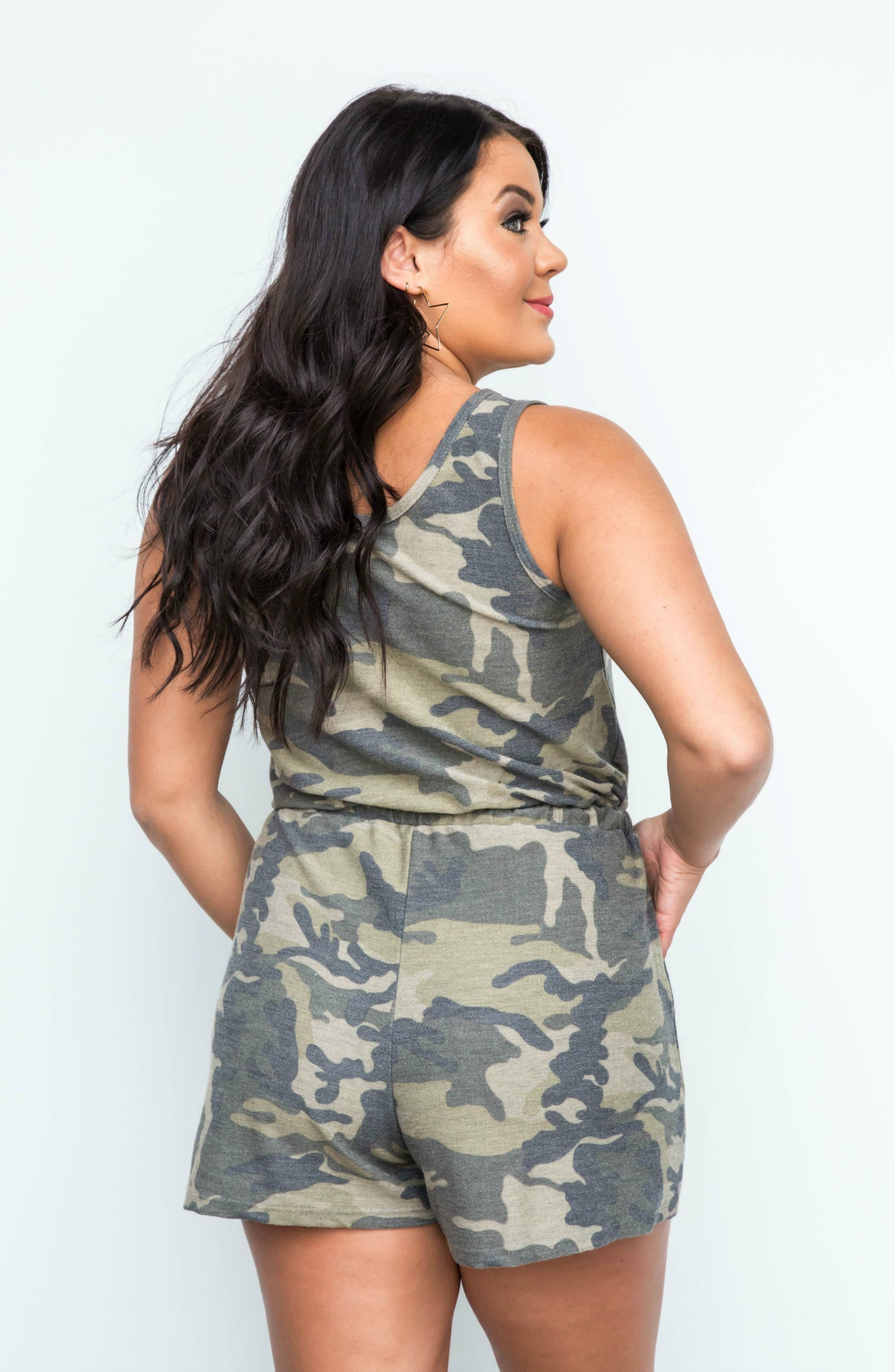 63553f6d07409 Carry Me Home Camo Short Romper – Apricot Lane Boutique - Peoria