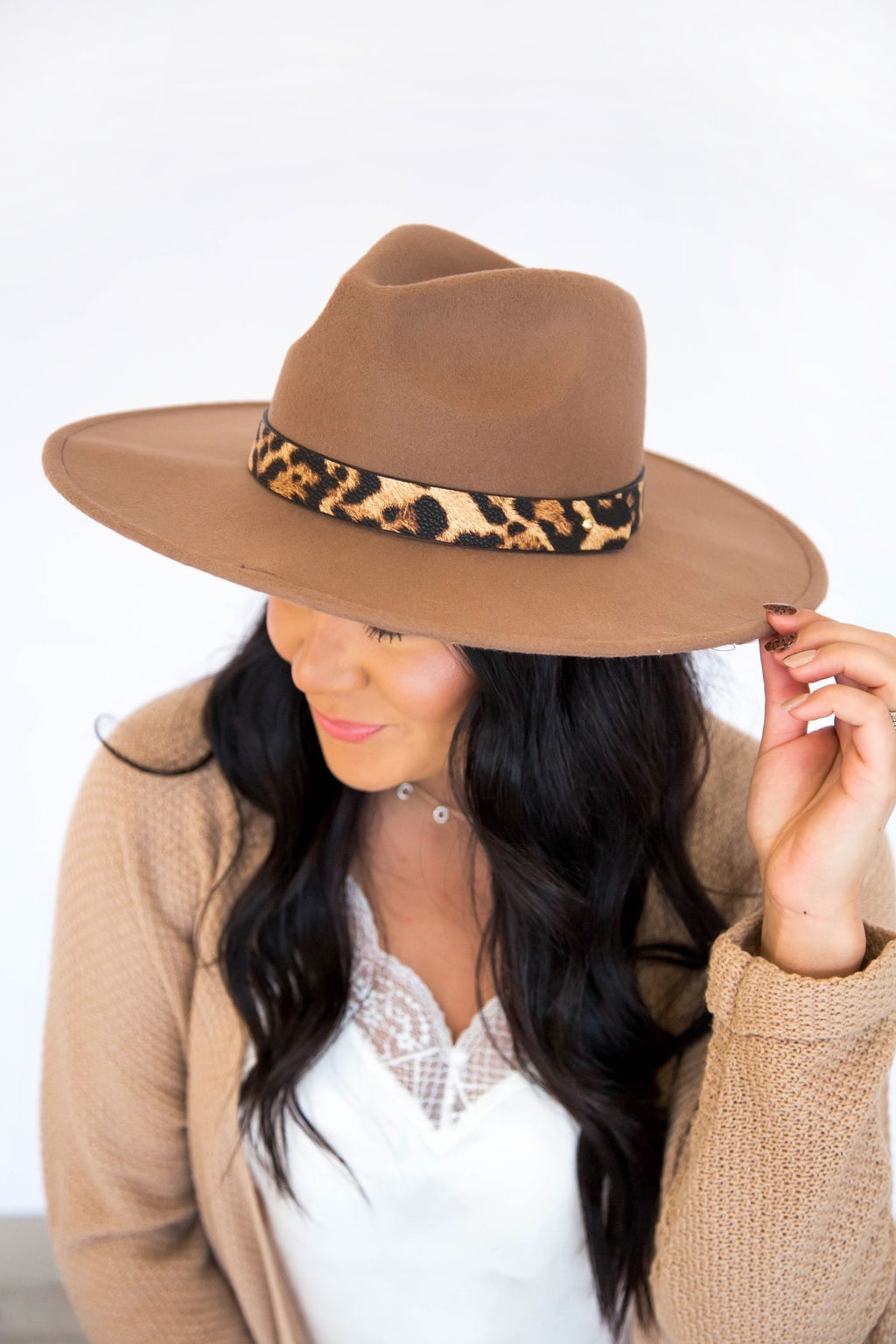Springsteen Wide Stiff Brim Leopard Hat- 4 colors