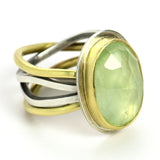 Prehnite Calm & Chaos Ring with 18K Gold