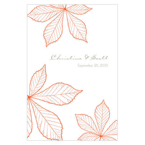 Autumn Leaf Wine Label Tangerine Orange
