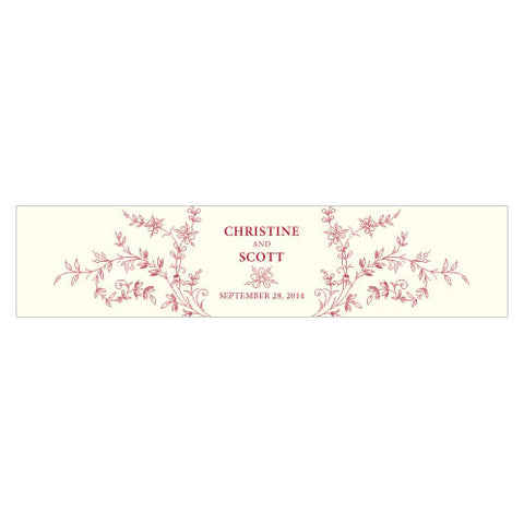 Forget Me Not Water Bottle Label Ruby