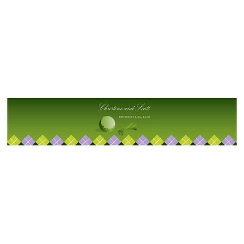 Golf Water Bottle Label Classical Green Gradient