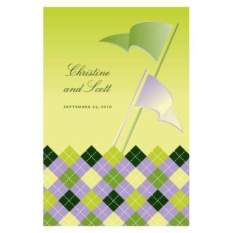 Golf Wine Label Classical Green Gradient