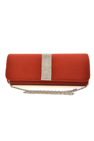 Velvety Look Evening Bag