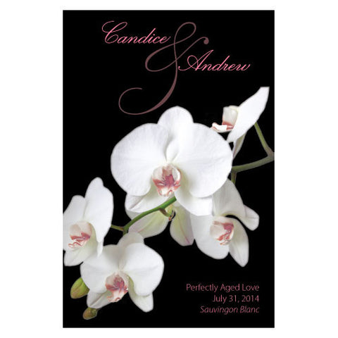 Classic Orchid Wine Label Pastel Pink