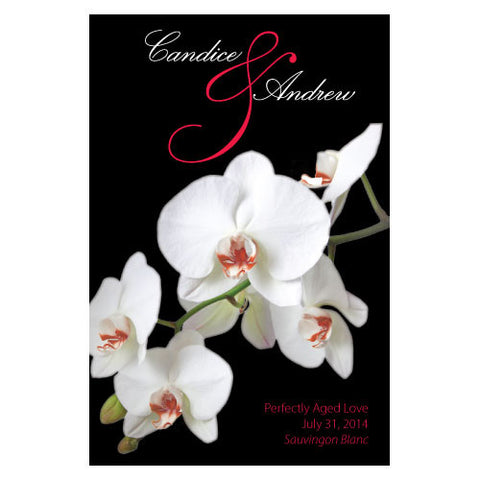 Classic Orchid Wine Label Red