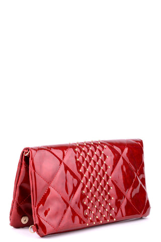 Quilted Patent Faux Leather Handbag