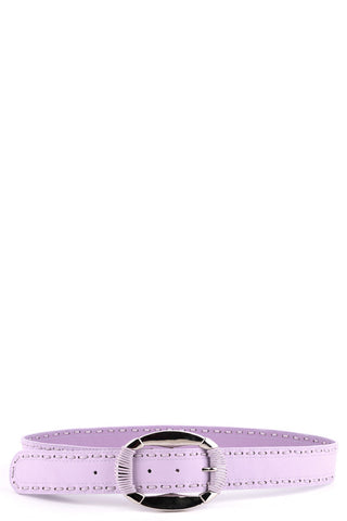 Lilac Belt With Stitch Detail-Lilac-Length - 85cm