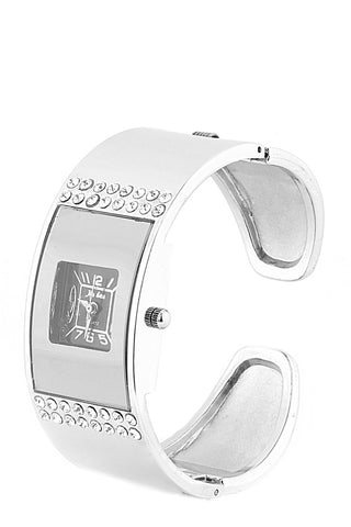 Cuff Watch With Diamante Decorations