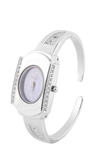 Silver Coloured Watch With Skinny Band