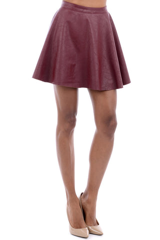 Wet Look Skater Skirt