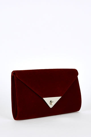 Twist Clasp Envelop Clutch Bag -Navy
