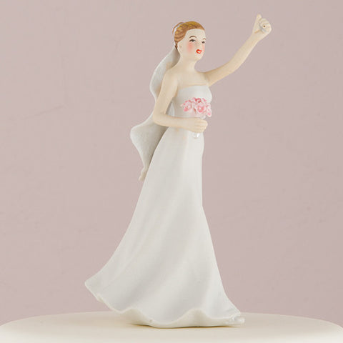 climb, climbing, victorious, mountain, tower, whimsical, cake, pair, co-ordinate, figure, hand painted, porcelain, hand-painted, bride, wife, wedding reception, wedding, weddings, topper, Skin Color_Light, Ethnicity_Caucasian, mix and match, mix & match, groom, figurine, husband, couple, cake topper, Cake Accessories_Cake Toppers, cake