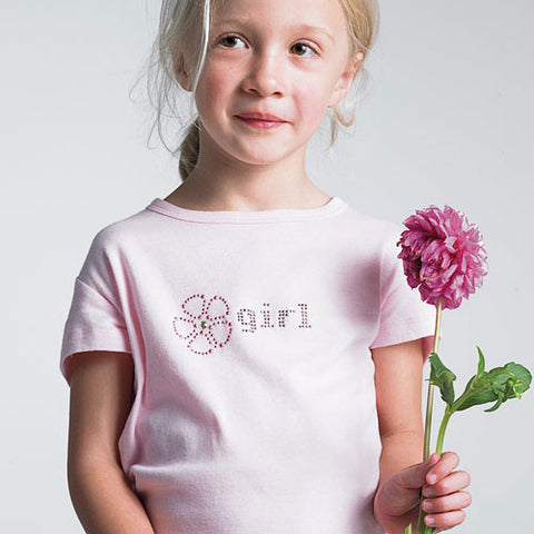 iron on, iron-on, flower girl, thinestones, studs, crystals, t-shirt, shirt, weddings