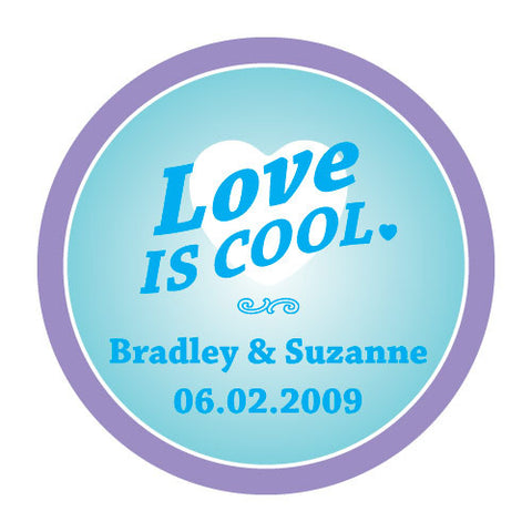 love is cool, stickers, weddings